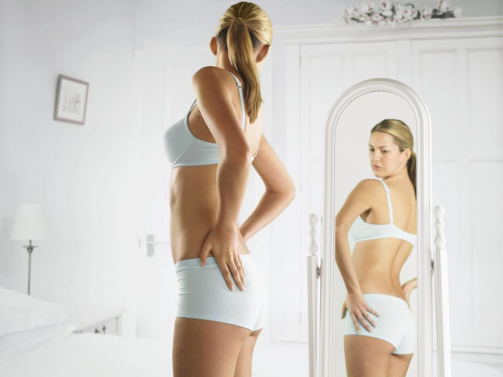 A woman after losing weight
